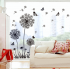 Black Dandelion Wall Sticker