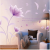 Wall Sticker with Romantic Purple Flower Designs
